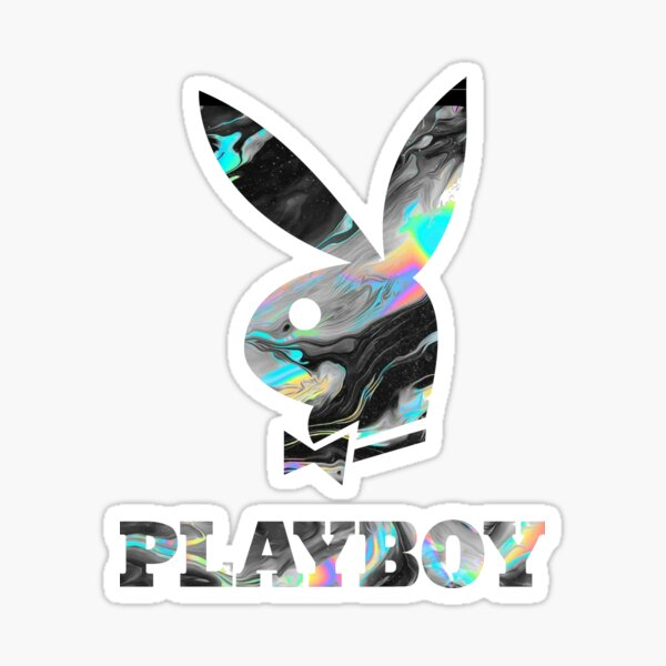 Playboy holographique Sticker