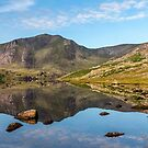 Ogwen Lake Reflections by Adrian Evans