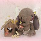Handmade bears from Teddy Bear Orphans - Evie Elephant by Penny Bonser