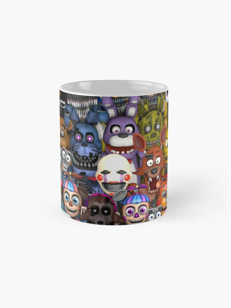 Vista alternativa de Taza FNaF ~ 5 Five Nights at Freddys ~ Videojuego Gamer Gaming