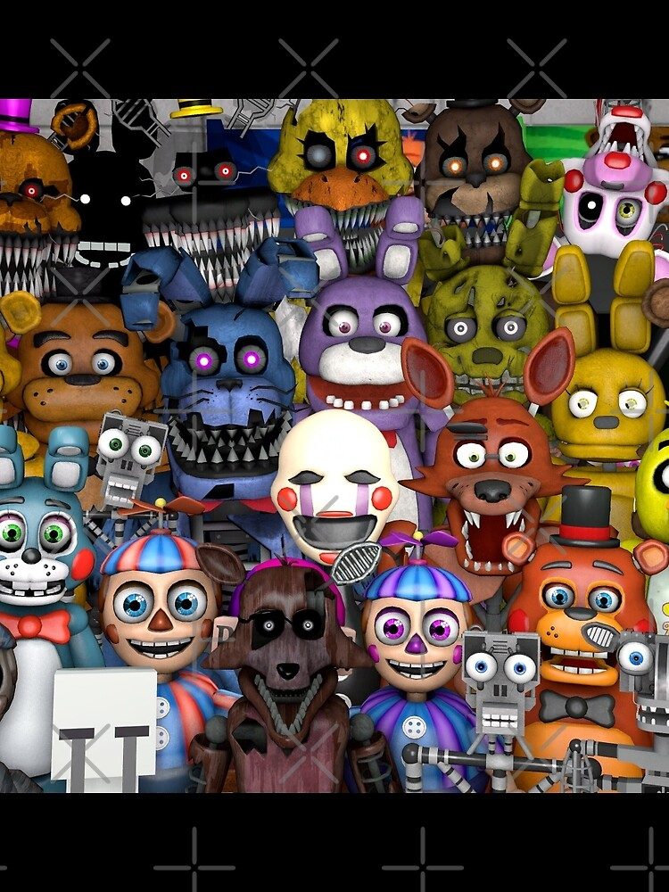 FNaF ~ 5 Five Nights at Freddys ~ Videojuego Gamer Gaming de GroovyPixels