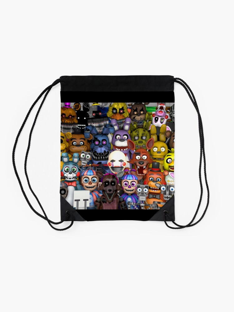 Vista alternativa de Mochila saco FNaF ~ 5 Five Nights at Freddys ~ Videojuego Gamer Gaming