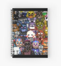 Cuaderno de espiral FNaF ~ 5 Five Nights at Freddys ~ Videojuego Gamer Gaming