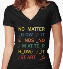 No matter - In Rainbows Women's Fitted V-Neck T-Shirt