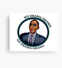 No Drama Obama Canvas Print
