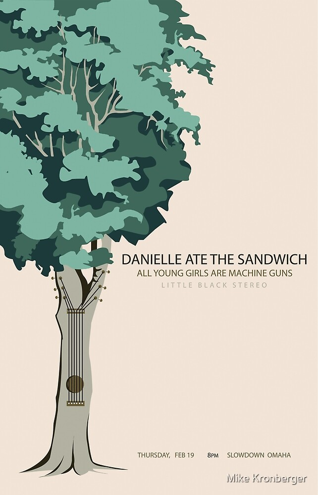 Danielle Ate The Sandwich Slowdown Concert Poster by Mike Kronberger