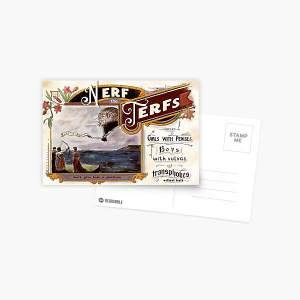 Nerf the TERFs - Contre la haine transhobe Carte postale