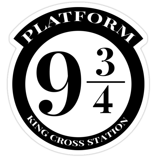 Platform 9 3 4 quot stickers by drtees redbubble