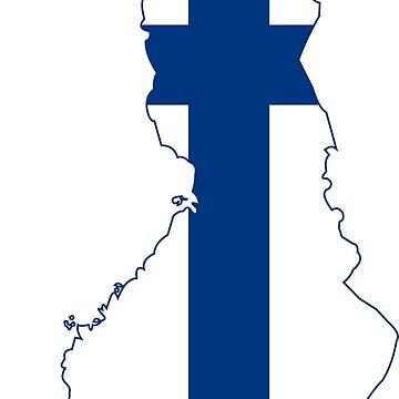 Flag Map of Finland  by abbeyz71