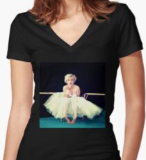 Marilyn Monroe  Fitted V-Neck T-Shirt