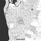 Adelaide Stadtplan Grau von HubertRoguski