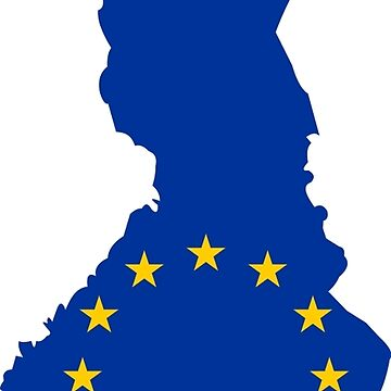 European Union Flag Map of Finland by abbeyz71