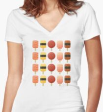 The Creamsicles of Nigiri Women's Fitted V-Neck T-Shirt