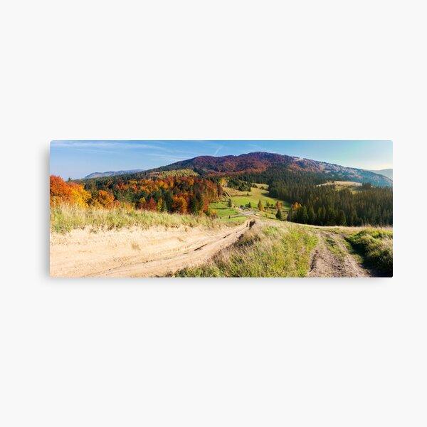 panorama of mountainous landscape in autumn Canvas Print
