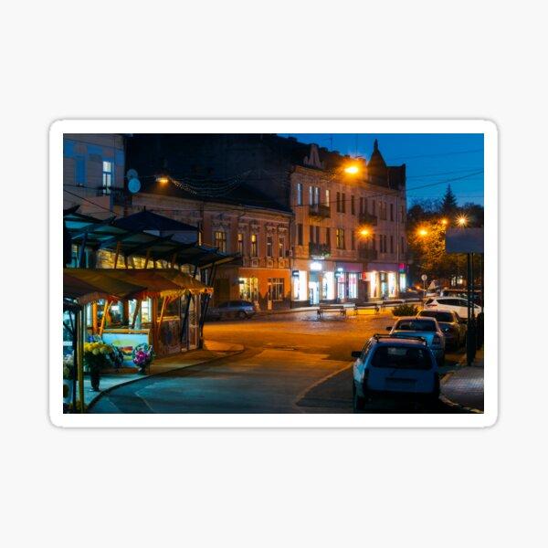 empty Petefi square in evening Sticker