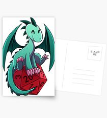 D&D - Dragons and Dice! (Green Dragon) Postcards