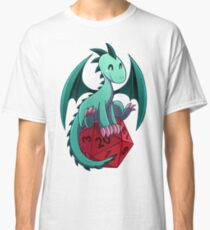 D&D - Dragons and Dice! (Green Dragon) Classic T-Shirt