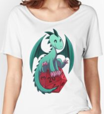 D&D - Dragons and Dice! (Green Dragon) Women's Relaxed Fit T-Shirt