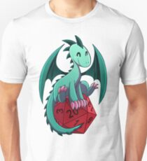 D&D - Dragons and Dice! (Green Dragon) T-Shirt