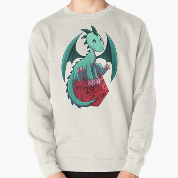 D&D - Dragons and Dice! (Green Dragon) Pullover Sweatshirt