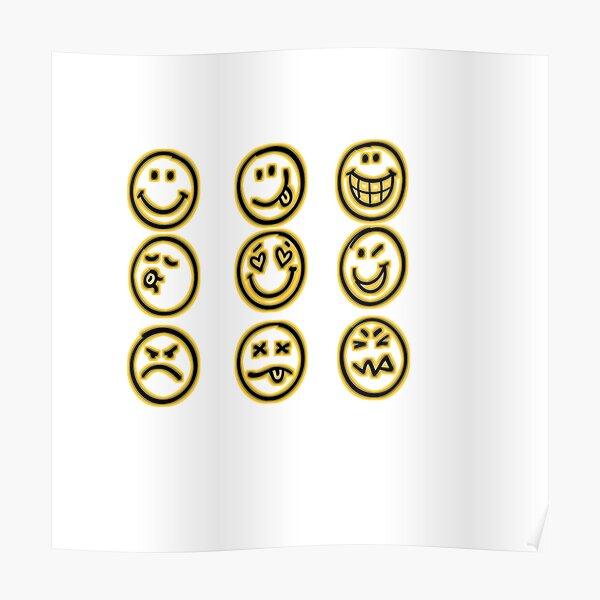 camiseta emoji Póster