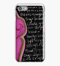 Survivor mind breast cancer iPhone Case/Skin