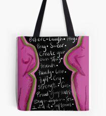 Survivor mind breast cancer Tote Bag