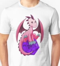 D&D - Dragons and Dice! (Pink Dragon) T-Shirt