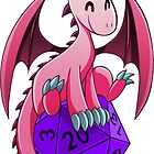 D&D - Dragons and Dice! (Pink Dragon) by kickgirl