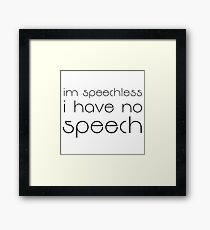 Seinfeld Quote Funny Speechless TV Show Comedy Framed Print