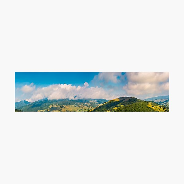 wonderful mountainous panorama in autumn Photographic Print