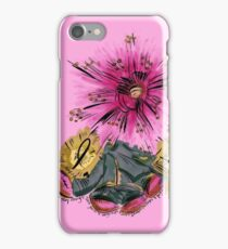 Warrior for breast cancer iPhone Case/Skin