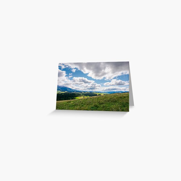 wonderful mountainous countryside in early autumn Greeting Card