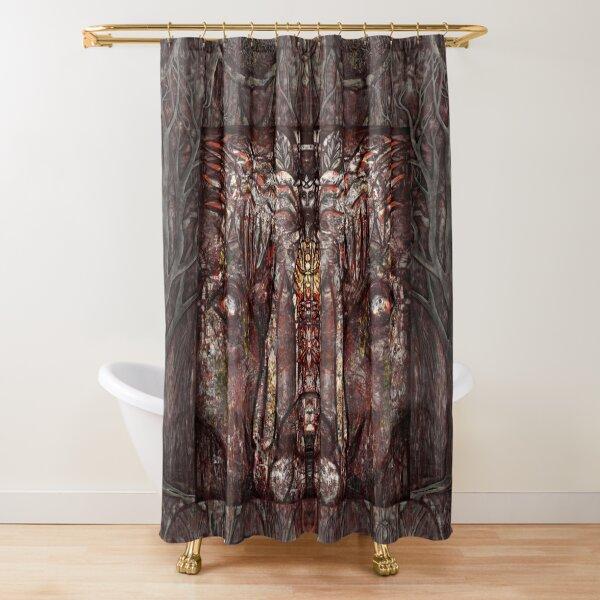 """Shamalion"" (red) Shower Curtain"