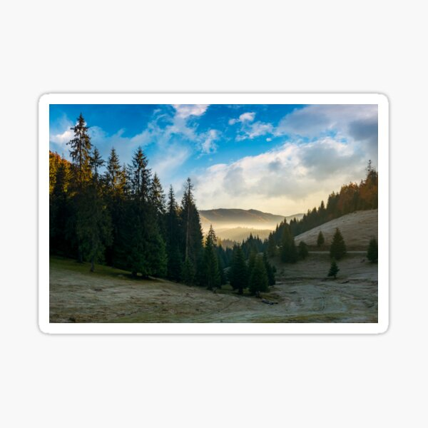 mysterious countryside in mountains Sticker