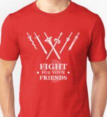 Kämpfe für deine Freunde Slim Fit T-Shirt