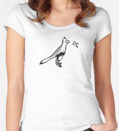 Ask Me About Bird Evolution Women's Fitted Scoop T-Shirt