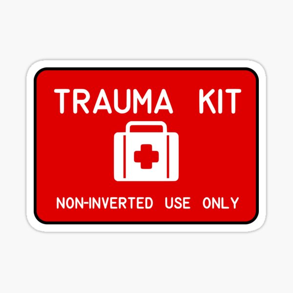 Non-inverted Medical Kit Patch Sticker