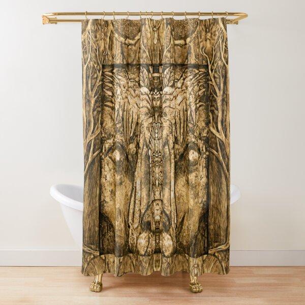 """Shamalion"" (gold) Shower Curtain"