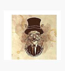 Steampunk Mustache Photographic Print