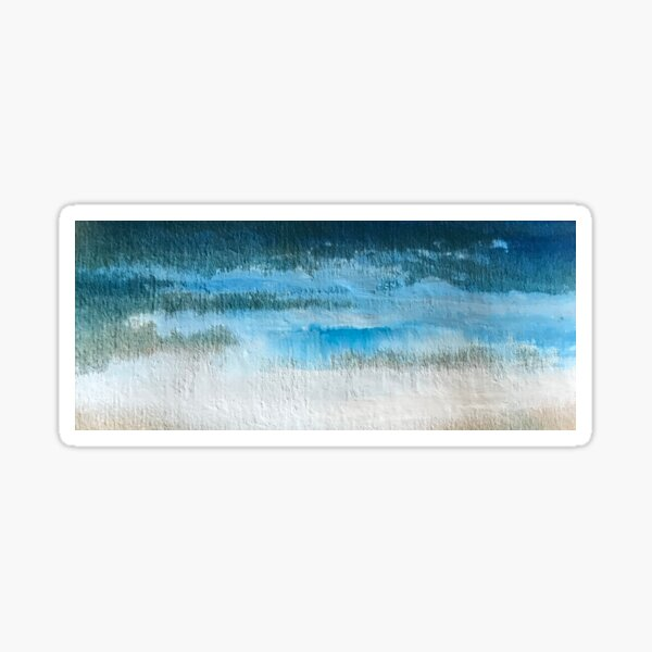 paint and water clouds Sticker