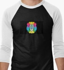 Vector Lion Men's Baseball ¾ T-Shirt