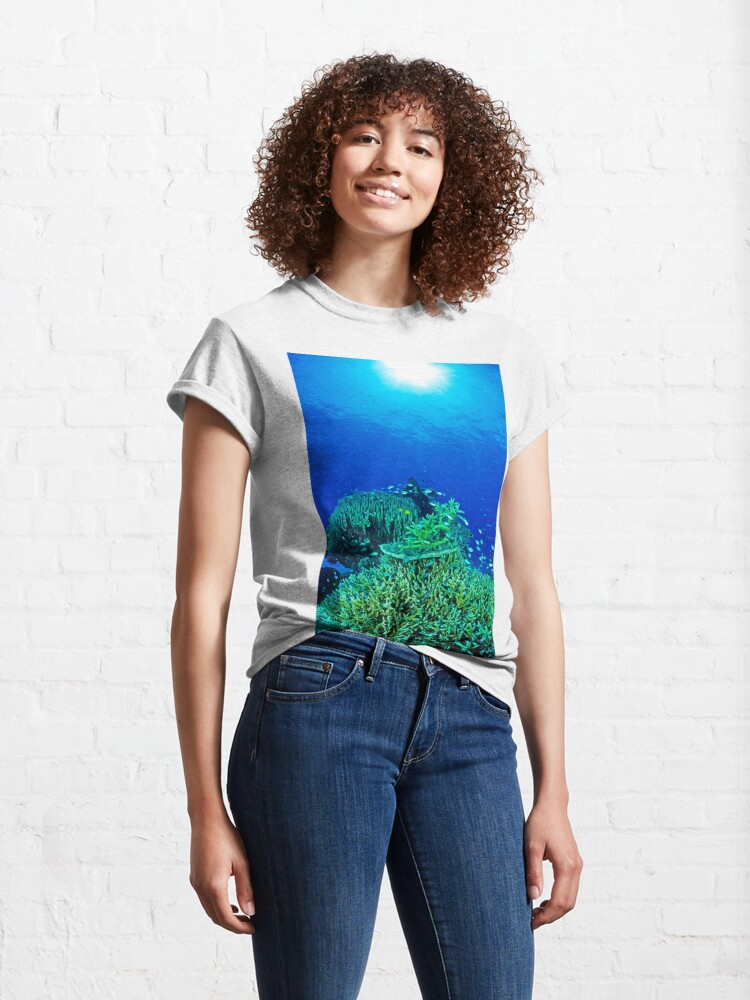 Alternate view of Coral reef scene Classic T-Shirt