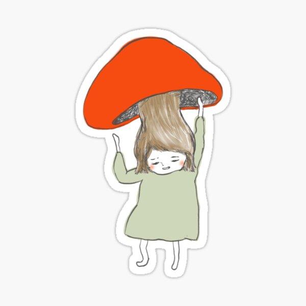 Mushroom Girl Sticker
