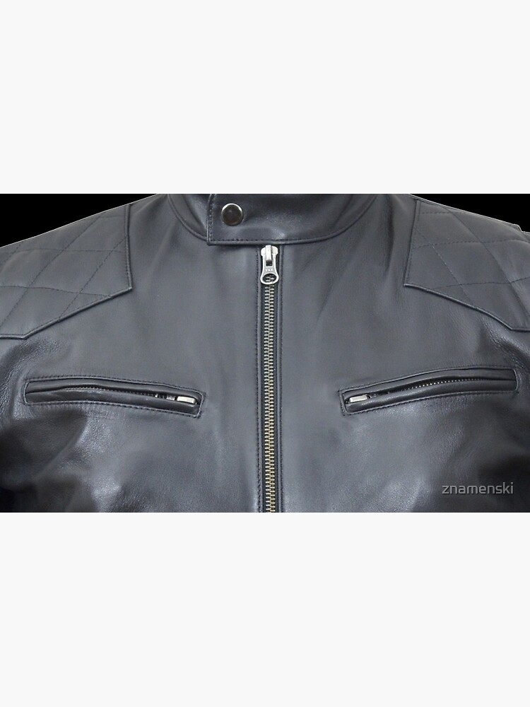 Quilted, Moto, Leather, Jacket, Front by znamenski