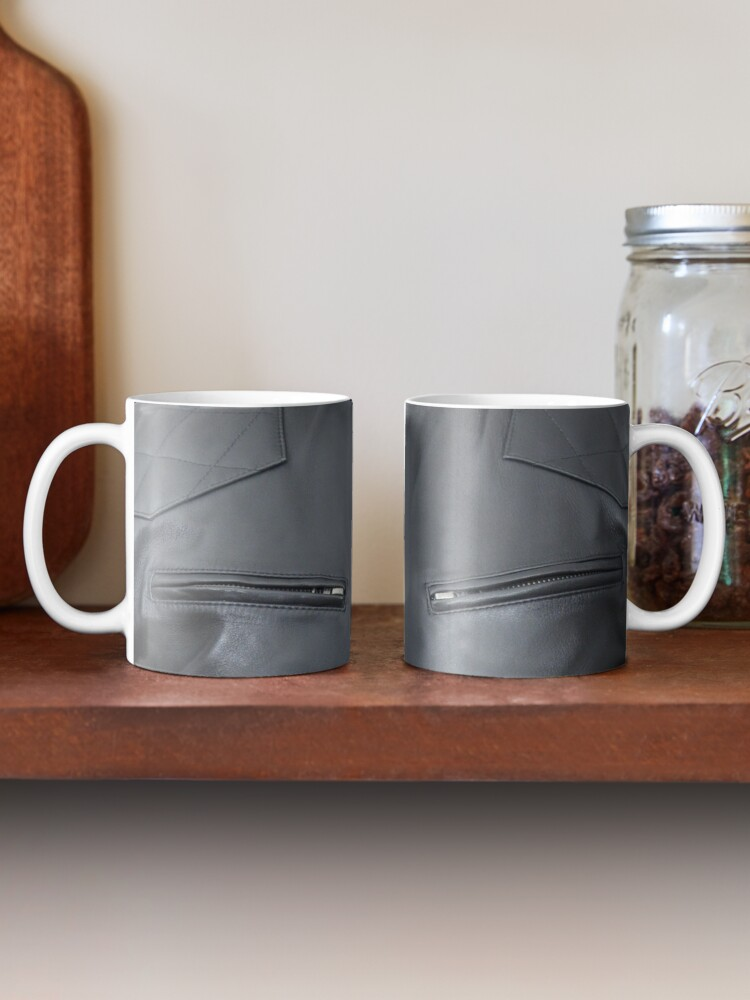 Alternate view of Quilted, Moto, Leather, Jacket, Front Mug
