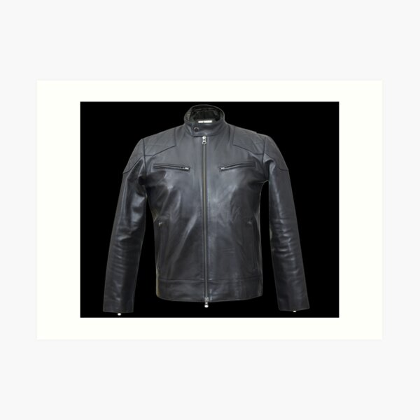 Quilted, Moto, Leather, Jacket, Front Art Print