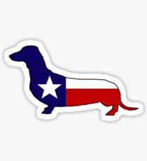 Texas flag dachshund wiener dog Sticker