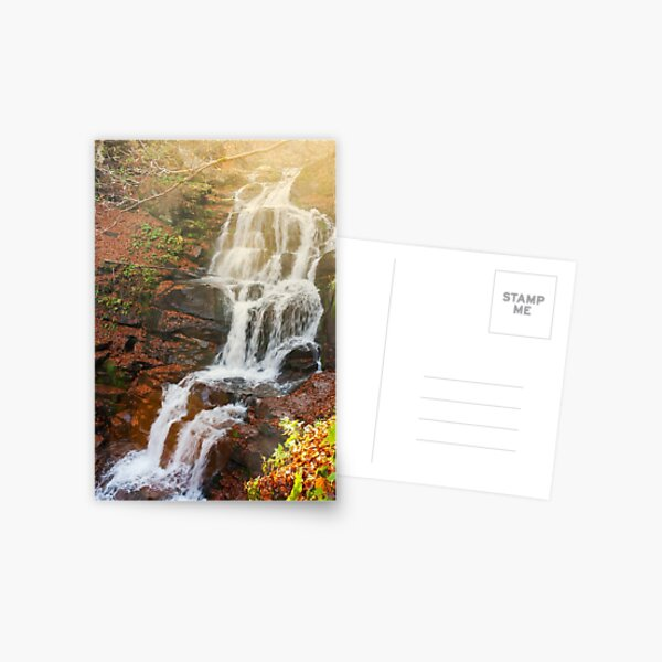 waterfall Shypot in gorgeous evening Postcard