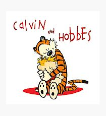 Calvin and Hobbes Big Hugs Photographic Print